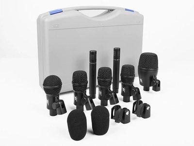 Gatt DKit 7 zeven delige microfoon set voor slagwerk.